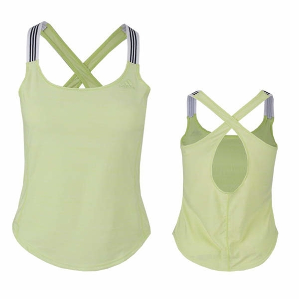 ADIDAS CROSSBACK TANK 螢光綠 訓練 運動 細肩帶 背心 女(布魯克林) CF8337