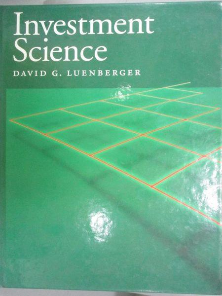 【書寶二手書T1/科學_QEZ】Investment Science_Luenberger, David G.