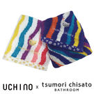 Tsumori Chisato 彩色波浪手帕 - 無撚毛巾 100%純棉 貓咪刺繡 日本設計師 津森千里