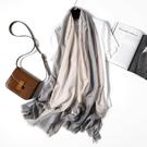 辦公室空調房披肩春秋季韓版多功能圍巾女仿羊絨羊毛百搭輕薄長款 依凡卡時尚