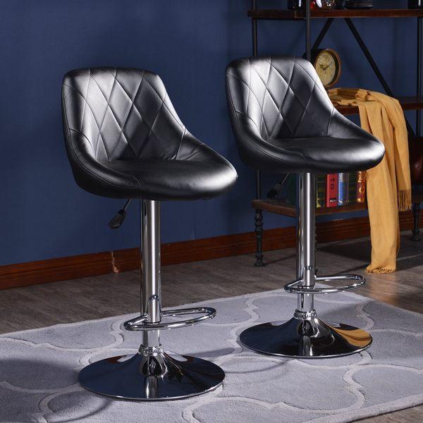 FDW【B12】免運現貨*平日24H出貨*復古菱格紋吧檯椅吧檯椅/高腳椅/吧台椅/設計師/工作椅/餐椅/