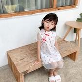韓國女童旗袍夏季薄款兒童旗袍裙女寶寶洋氣連衣裙小女孩公主裙中國風【居享優品】