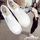 春季新款小白帆布鞋女鞋一腳蹬懶人布鞋韓版平底百搭學生白鞋 時尚芭莎
