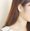 正韓霧面細C圈(6cm)夾式耳環~夏綠蒂didi-shop