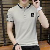 短袖POLO衫夏季男T恤修身半袖個性百搭休閒學生《印象精品》t203