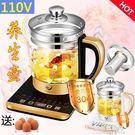 110V養生壺美國 多功能電煮鍋 出口日本全自動加厚玻璃電熱燒水壺 果果輕時尚NMS