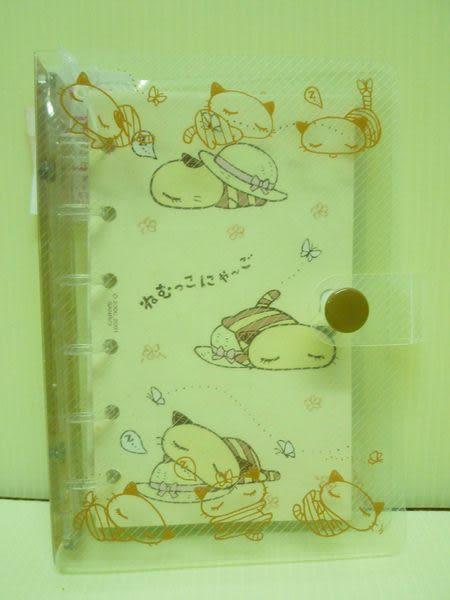【震撼精品百貨】Nyago 貪睡貓~六孔貼紙本