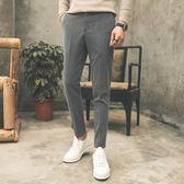 秋冬季男士西褲男長褲修身休閒小西褲小腳韓版潮流垂感西裝褲子