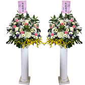 【大堂人本】羅馬柱鮮花_永遠懷念
