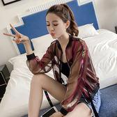 網紗防曬衣女短款夏季新款潮韓版學生寬鬆bf透氣開衫超薄外套