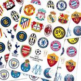 歐冠足球隊標貼畫旅行箱貼紙筆記本死飛冰箱潮牌貼紙墻貼貝光118-奇幻樂園