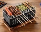 日式迷你小烤爐家用不黏烤盤桌上無煙木炭燒...