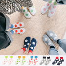 Queen Shop【07110454】波卡圓點配色造型襪 五色售*現+預*
