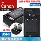 佳美能@攝彩@Canon BP-511充電器 5D 10D 20D 30D 40D MVX1i MV30i MV100X