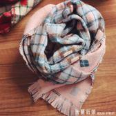 兒童圍巾 2018韓版兒童格子圍巾秋冬季男童女寶寶雙面柔軟保暖毛線圍脖小孩 米蘭街頭