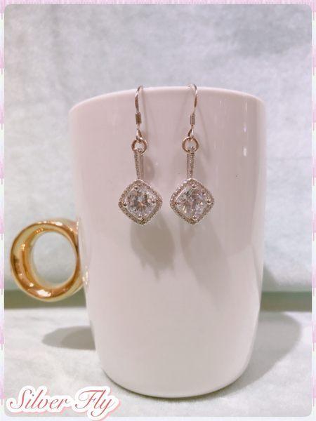 《 SilverFly銀火蟲銀飾 》微細珠寶鑲工系列-永恆純銀耳環