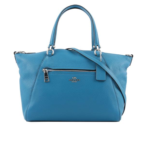 【COACH】皮革口袋手提/斜背二用包(亮藍色) 79997 SVRRY