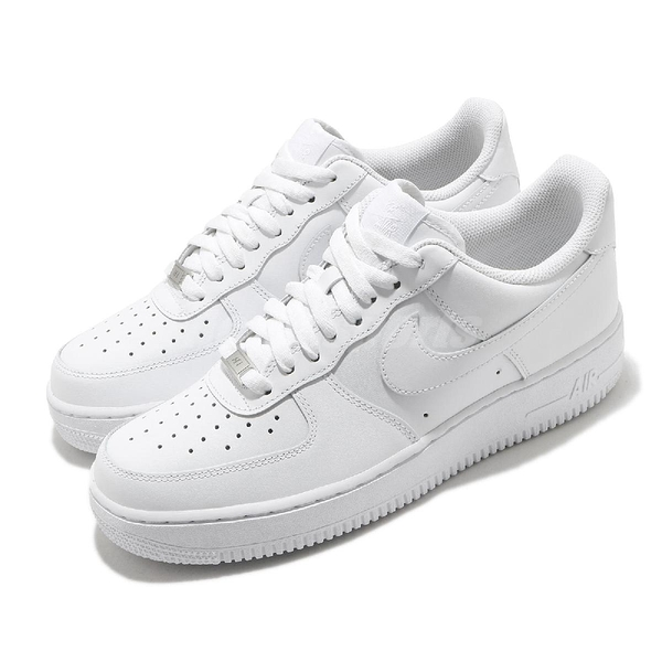 Nike 休閒鞋 Air Force 1 07 全白 男鞋 經典 基本款 小白鞋【ACS】 CW2288-111