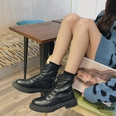 厚底馬丁靴女英倫風潮復古機車短靴【時尚大衣櫥】