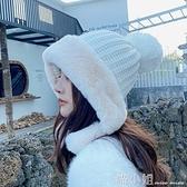針織帽 帽子女秋冬圓臉適合厚加絨毛線東北保暖帽護耳防風雪帽可愛雷鋒帽 喵小姐