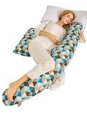 孕婦枕護腰側睡枕頭多功能u型枕靠抱枕墊子側臥枕孕睡覺神器  (橙子精品)