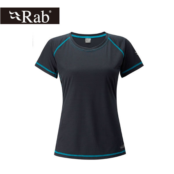 英國 RAB Interval Tee 銀鹽抗菌短袖排汗衣 女 烏木灰 #QBT55EB
