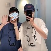 roora情侶裝夏裝2020新款小眾設計感短袖t恤衫夏天男學生上衣法式 【ifashion·全店免運】