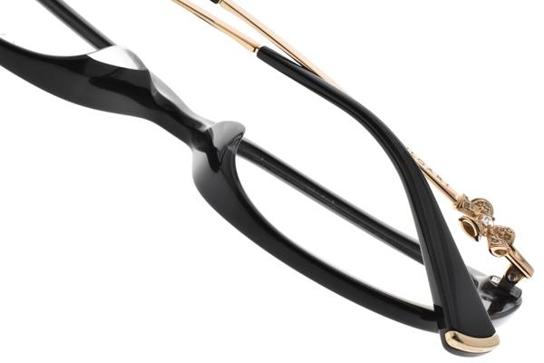 BVLGARI 光學眼鏡 BG4145BF 501 (黑-金) 浪漫小花設計款 平光鏡框 # 金橘眼鏡