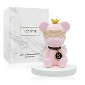 OPretty 歐沛媞 車用香氛擴香石擺飾-翅膀小熊(粉色)(6.5X6.5X8cm)