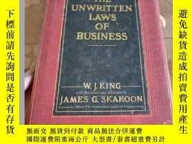 二手書博民逛書店THE罕見UNWRITTEN LAWS OF BUSINESS:原版英文書Y26894 W. J. King;