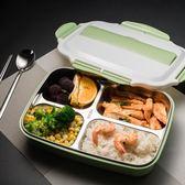 304不銹鋼飯盒超長保溫便當盒分隔學生成人帶蓋分格食堂韓國簡約