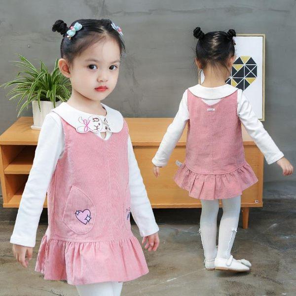 萬聖節狂歡 女童春裝連身裙2018新款1歲3女寶寶春秋冬背心洋氣兒童裝公主裙子 桃園百貨