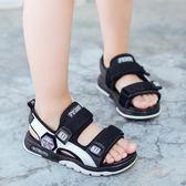兒童涼鞋 男童涼鞋夏季新品兒童沙灘鞋皮質中大童小男孩寶寶涼鞋正韓潮全館免運
