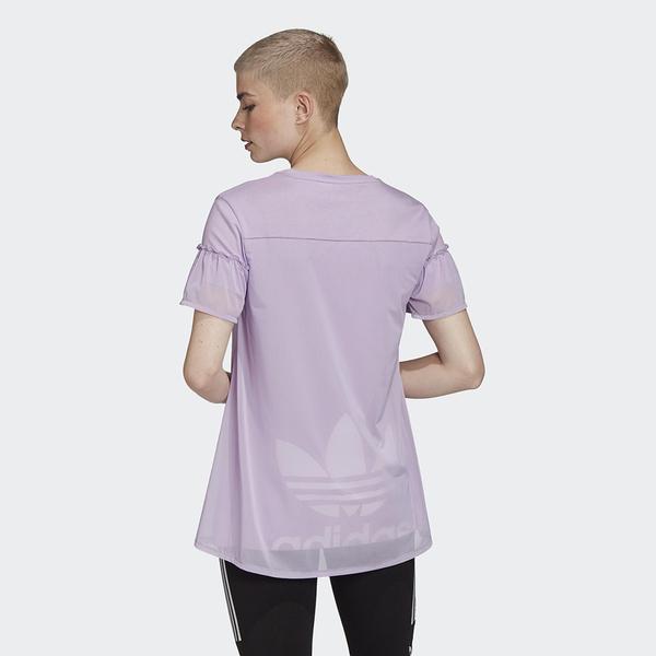 ADIDAS ORIGINALS BELLISTA 女裝 短袖 休閒 拼接 蕾絲 棉質 三葉草 淡紫【運動世界】GK3661