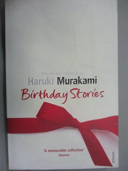 【書寶二手書T9/原文小說_JOF】Birthday Stories_Haruki Murakami