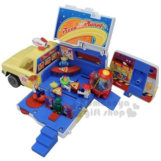 〔小禮堂〕玩具總動員 TOMICA小汽車收納車展示櫃《藍黃.貨櫃車》公仔.玩具.模型 4904810-86967