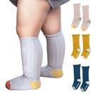 兒童豎條紋高筒鬆口襪 3色雙針長筒襪-JoyBaby