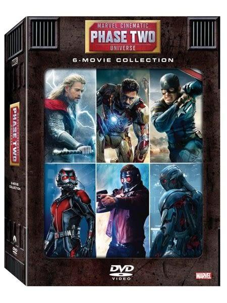 漫威電影世界:第二階段大合集 DVD (音樂影片購)