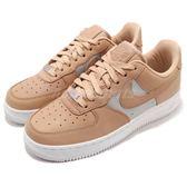 Nike Wmns Air Force 1 07 SE PRM 米白 銀 皮革鞋面 女鞋 運動鞋【PUMP306】 AH6827-200