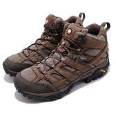 Merrell 戶外鞋 Moab 2 Smooth Mid GTX 咖啡 黑 Vibram 大底 中筒 男鞋 健行 登山鞋【PUMP306】 ML46553