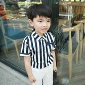 夏季兒童男短袖襯衫男童韓版襯衣小孩男孩