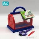兒童昆蟲觀察盒收集器采集箱透明放大鏡便攜捕捉工具戶外探索玩具