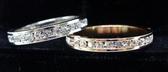【御鑽利保】凡購買30分以上 一年內八折回收 一年後全折回收 滿版排鑽 18K金 線條鑽石戒指套組