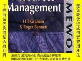 二手書博民逛書店Human罕見Resources Management (frameworks Series)-人力資源管理(框架