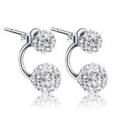 925純銀耳環(耳針式)鑲鑽-精選時尚熱銷生日情人節禮物女耳飾3款73ac70【巴黎精品】
