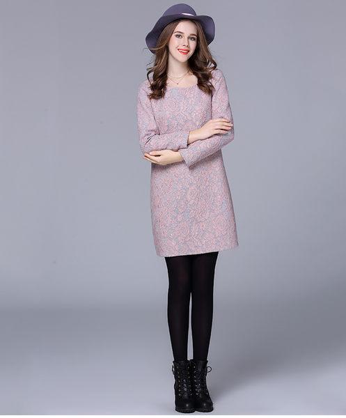 大尺碼洋裝 加厚修身顯瘦蕾絲連身裙 XL-5XL #sn2568 ❤卡樂store❤