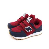 New Balance 574系列 運動鞋 復古鞋 魔鬼氈 紅/深藍 童鞋 YV574DMI-W no725