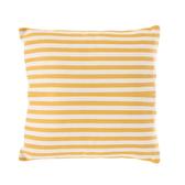 簡約條紋抱枕45x45cm 黃