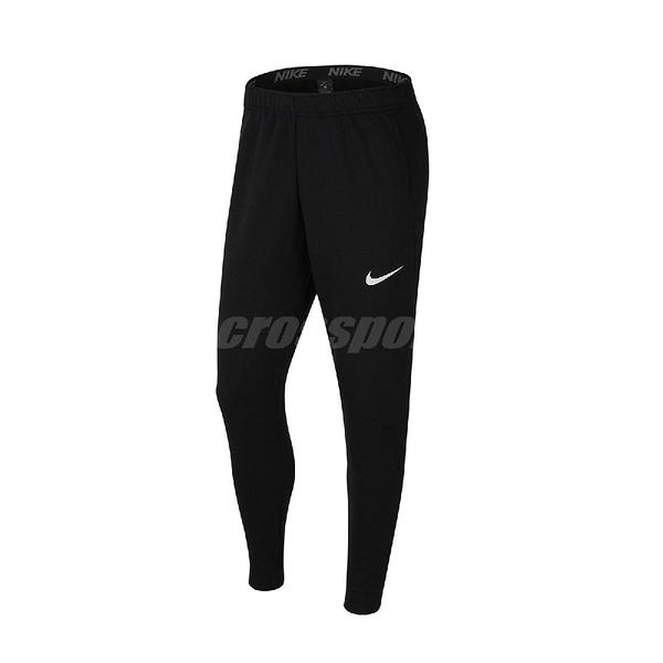 Nike 長褲 Dri-FIT Fleece Training Trousers 黑 白 男款 訓練 運動 【PUMP306】 CJ4313-010