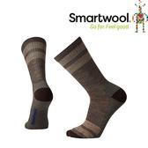【SmartWool 美國 男款 健行條紋輕量中長襪《灰褐》】SW001125/排汗襪/保暖襪/抗臭襪